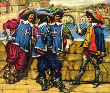 Three Musketeers and D'Artagnan, 3+1, by Norman Price