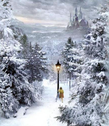 The lampost at the doorway into fantasy, from The Chronicles of Narnia
