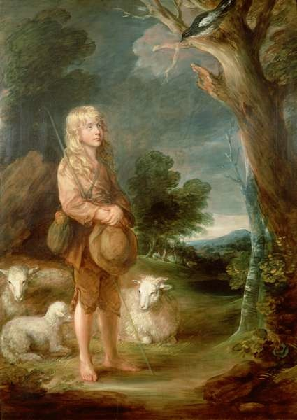 "Thomas Gainsborough, ""Shepherd Boy Listening to a Magpie"""