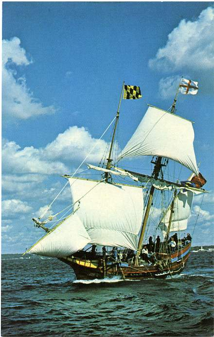 A replica of the Dove, which brought settlers to Maryland