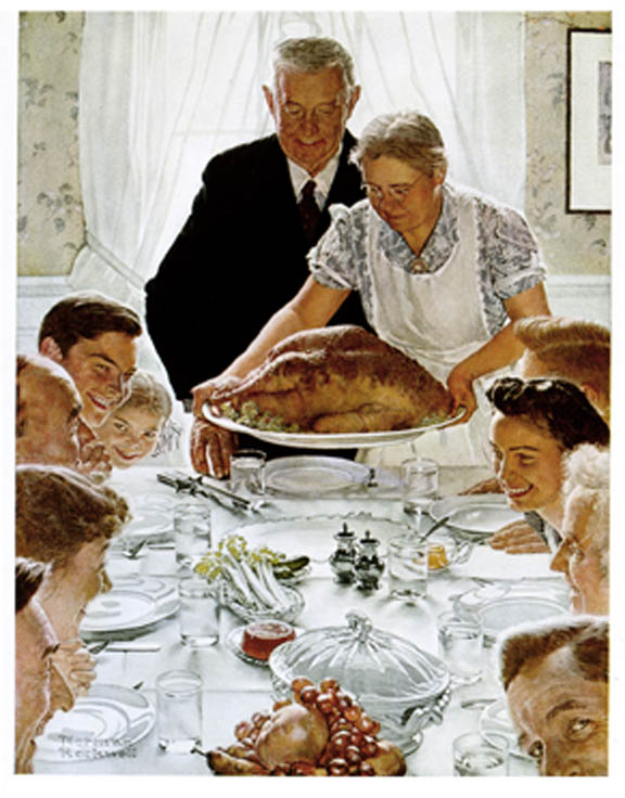 """Norman Rockwell, """"Freedom from Want"""""""