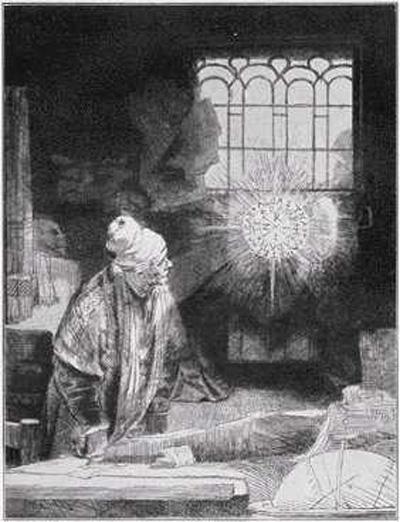 Dr. Faustus, Rembrandt etching
