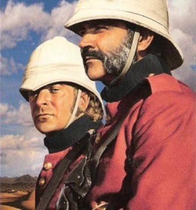 Cain and Connery in The Man Who Would Be King