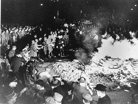 Nazi book burning