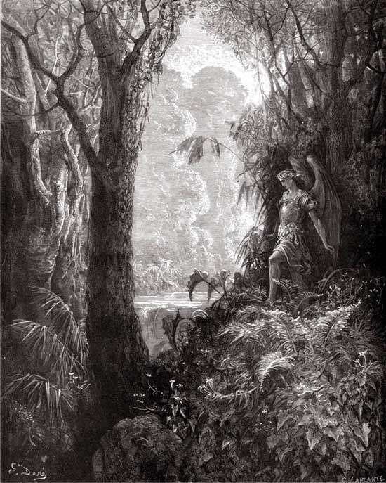 G. Dore, Satan in the Garden of Eden