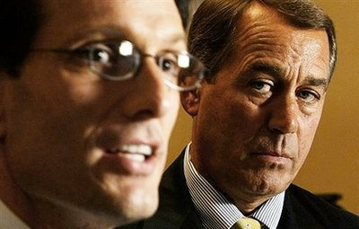 House Republican leaders Cantor and Boehner