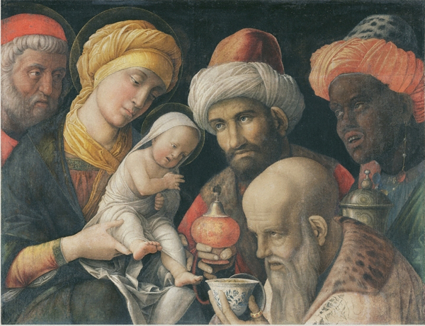 "Andrea Mantegna, ""Adoration of the Magi"""