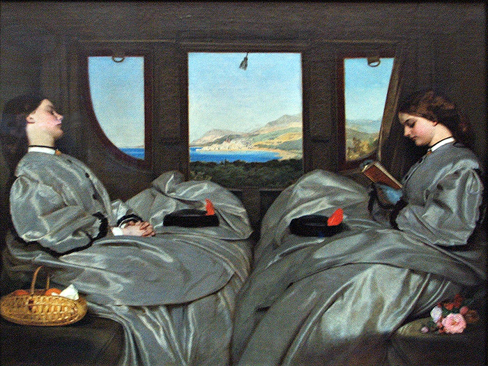 "Augustus Leopold Egg, ""Traveling Companions"" (1862)"