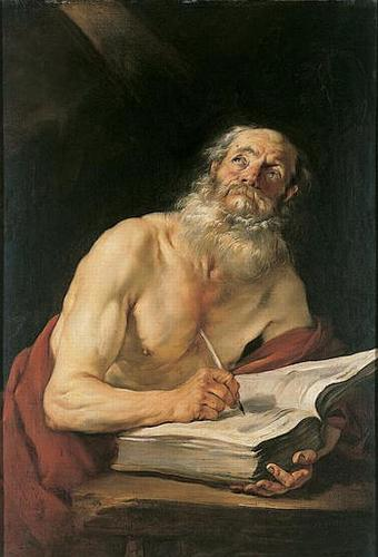 "Jacques Blanchard, ""St. Jerome Writing"""