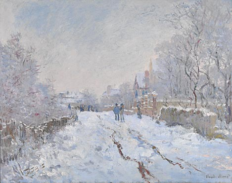 "Claude Monet, ""Snow Scene at Argenteuil"""