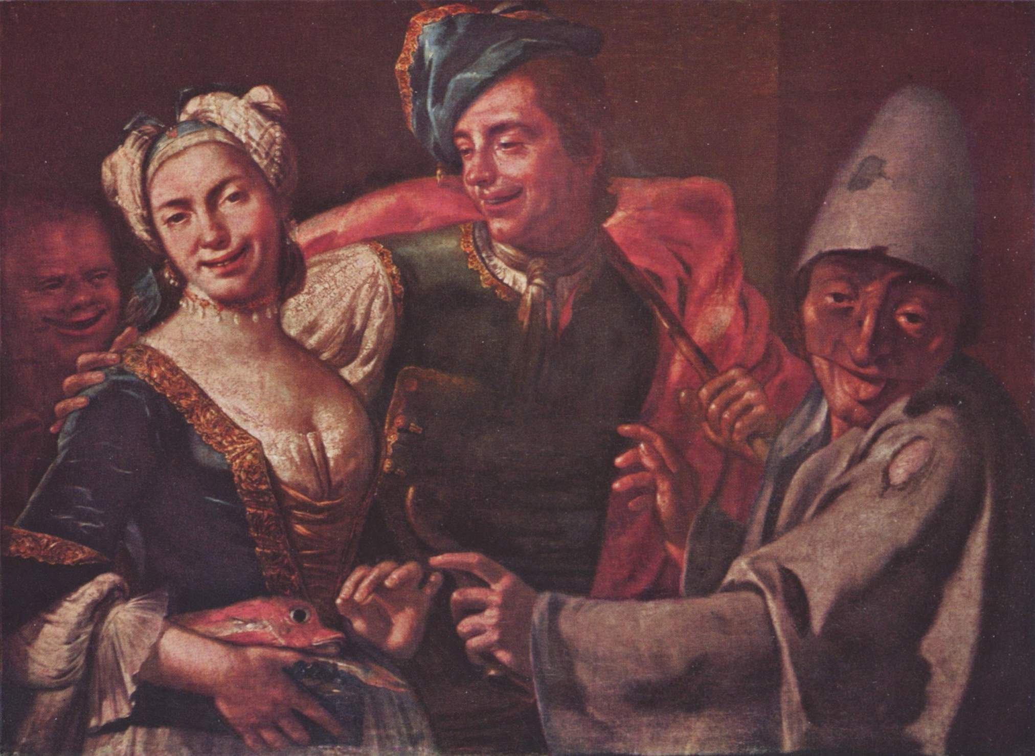 """Giueseppe Bonito, """"Masked Revelers"""""""