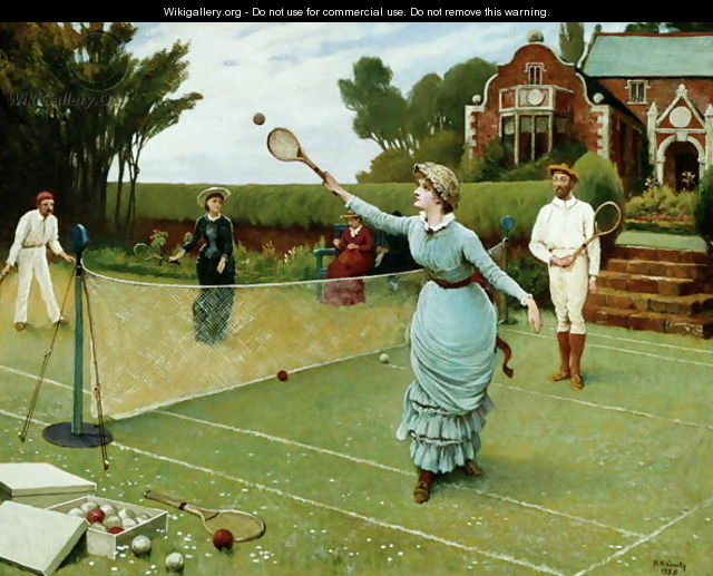 "Horace Henry Cauty, ""The Tennis Match"""