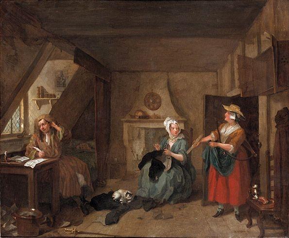 "Hogarth, ""The Distressed Poet"""