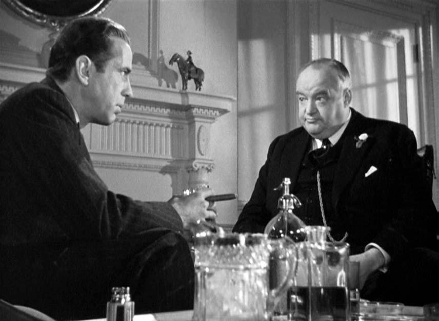 "Bogart, Greenstreet in ""The Maltese Falcon"""