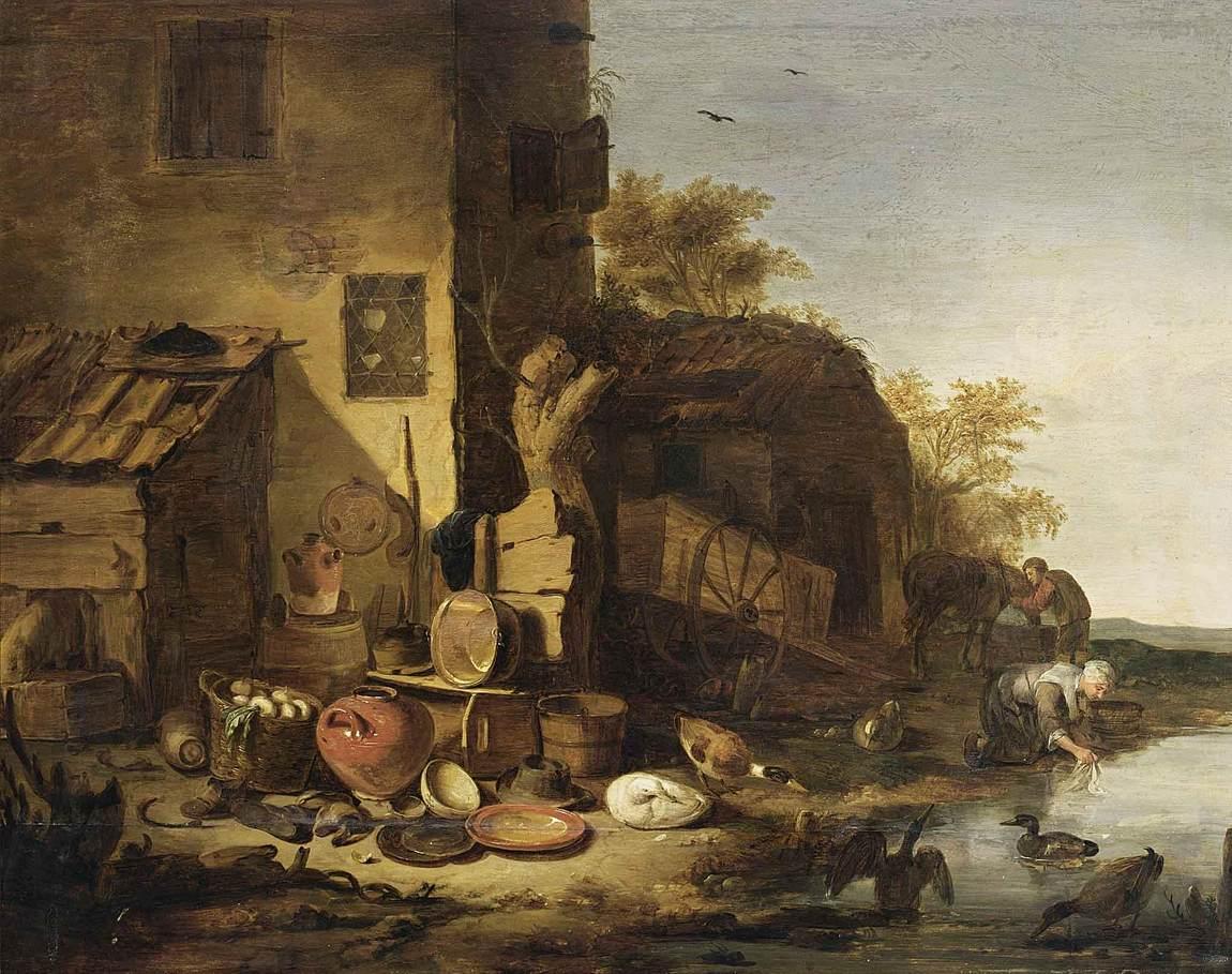 """Egbert Van der Poel, """"Cottage"""""""