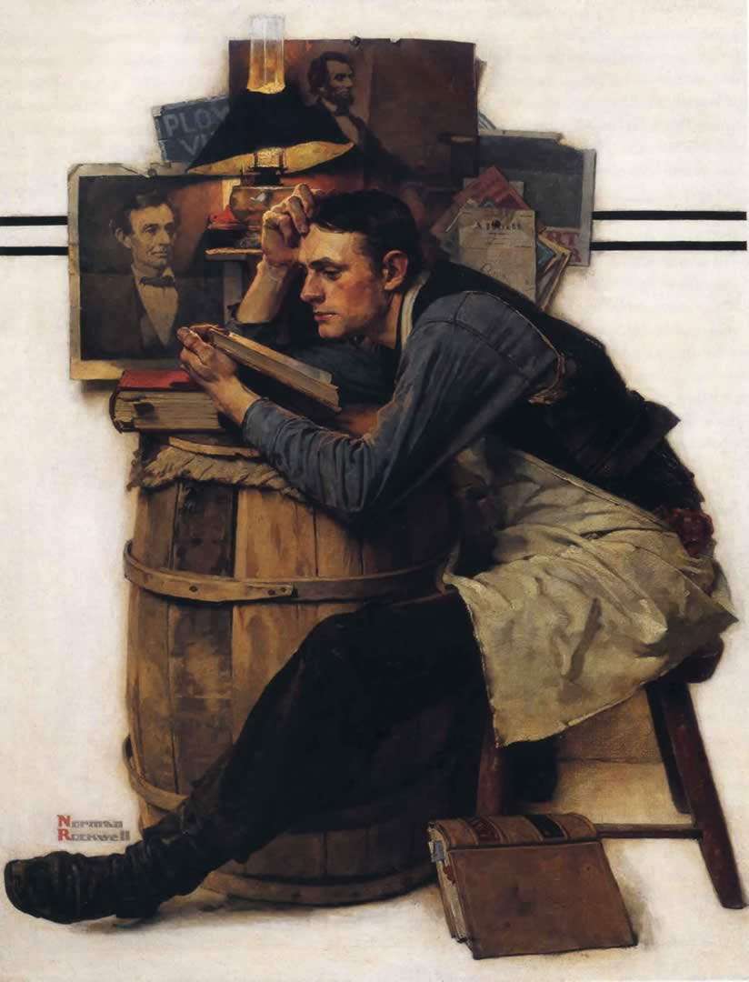 "Norman Rockwell, ""The Young Law Student"""