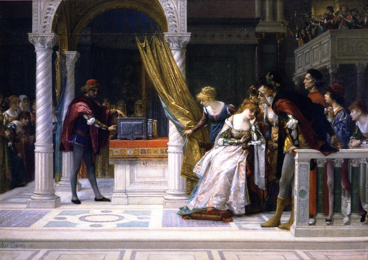"Alexandre Cabanel, ""Portia from 'Merchant of Venice'"""