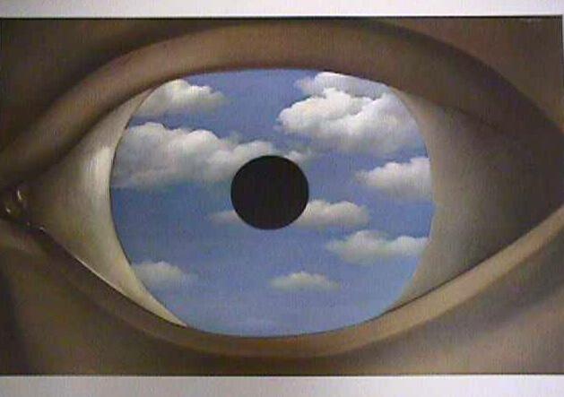 "Rene Magritte, ""The False Mirror"""