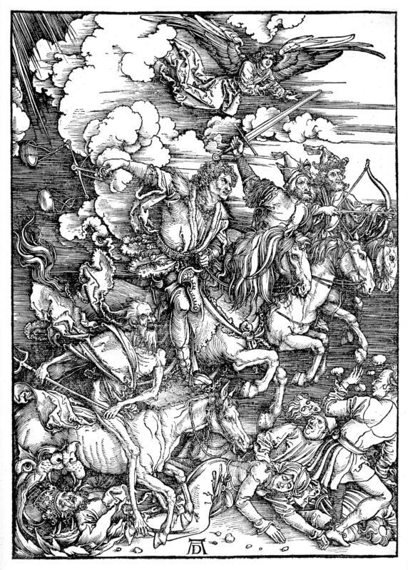 """Durer, """"Four Horsemen of the Apocalypse"""""""