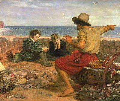 "Edward Millais, ""Boyhood of Raleigh"""