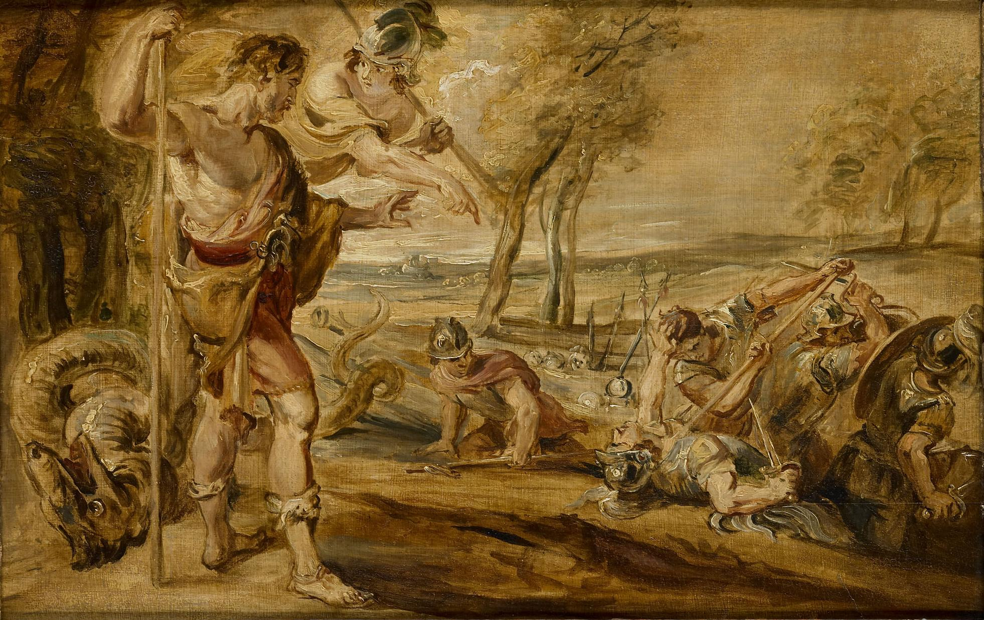 "Peter Paul Rubens, ""Cadmus Sowing the Dragon Seeds"""