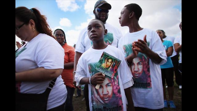 A February 2013 march for peace honoring Trayvon Martin