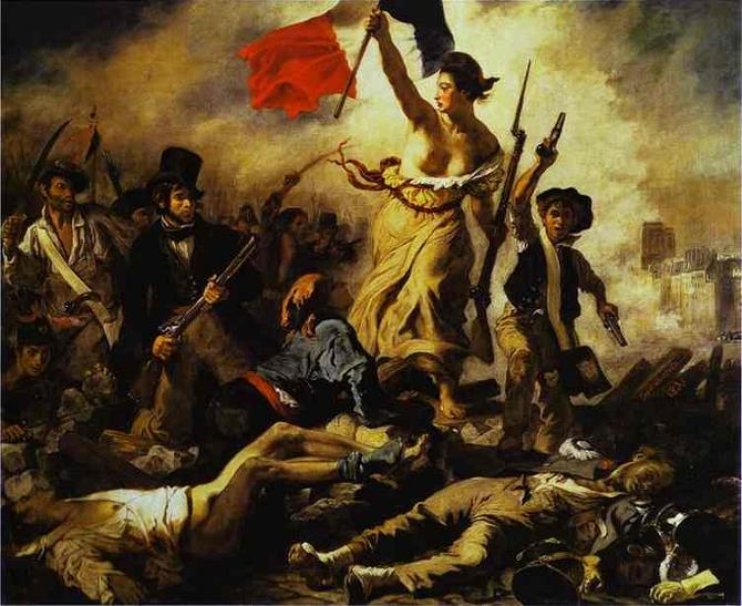 "Delacroix, ""Liberty Guiding the People"""