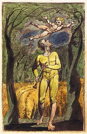"Blake, frontispiece to ""Songs of Innocence"""