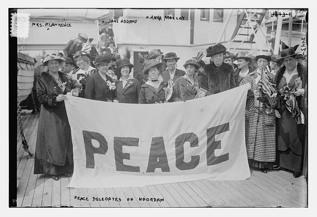 Women's Peace Party delegates, including Jane Addams, to the first International Congress of Women, April 1915