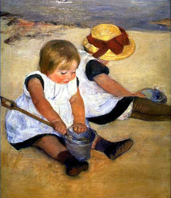 "Mary Cassatt, ""Children Playing on the Beach"""