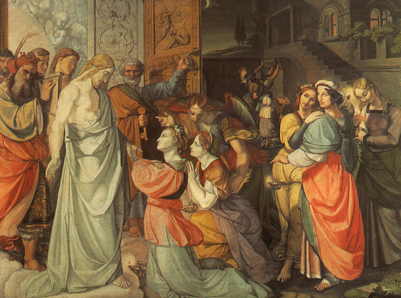 "Peter von Cornelius, ""The Wise and Foolish Virgins"""