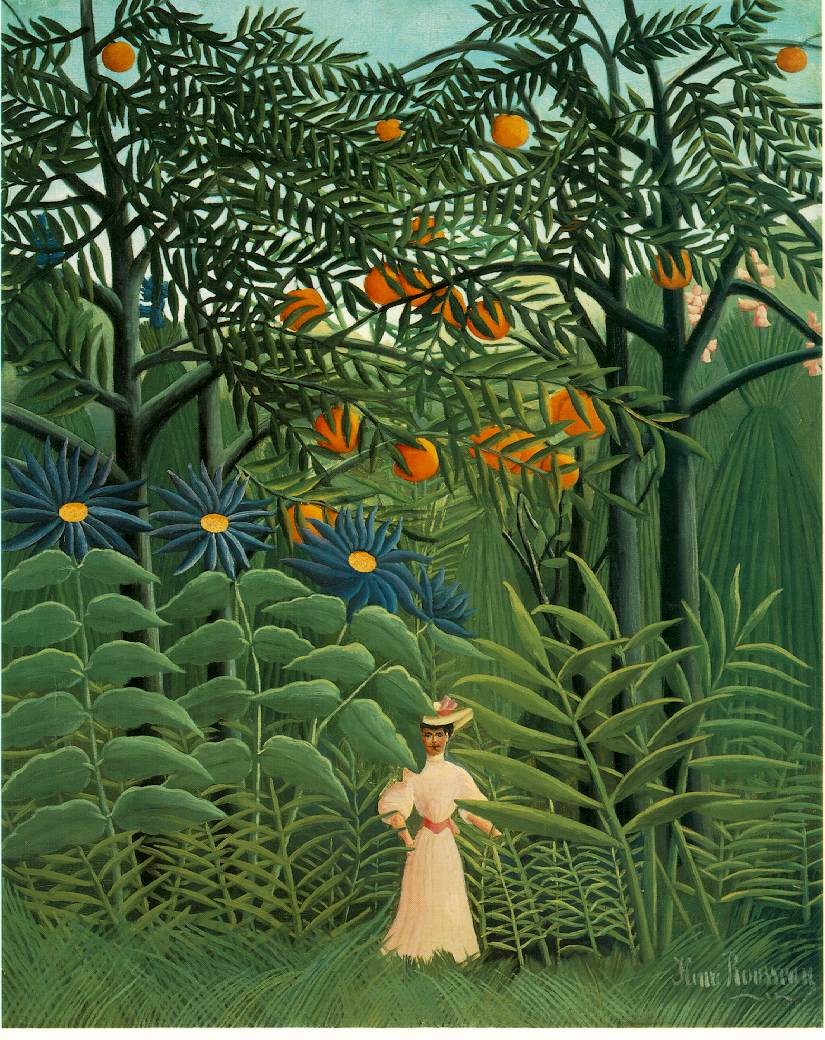 "Rousseau ""Woman Walking in a Fantastical Forest"""