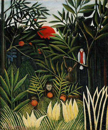 "Rousseau, ""Landscape with Monkeys"""