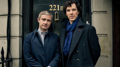 "Freeman, Cumberbach in ""Sherlock"""