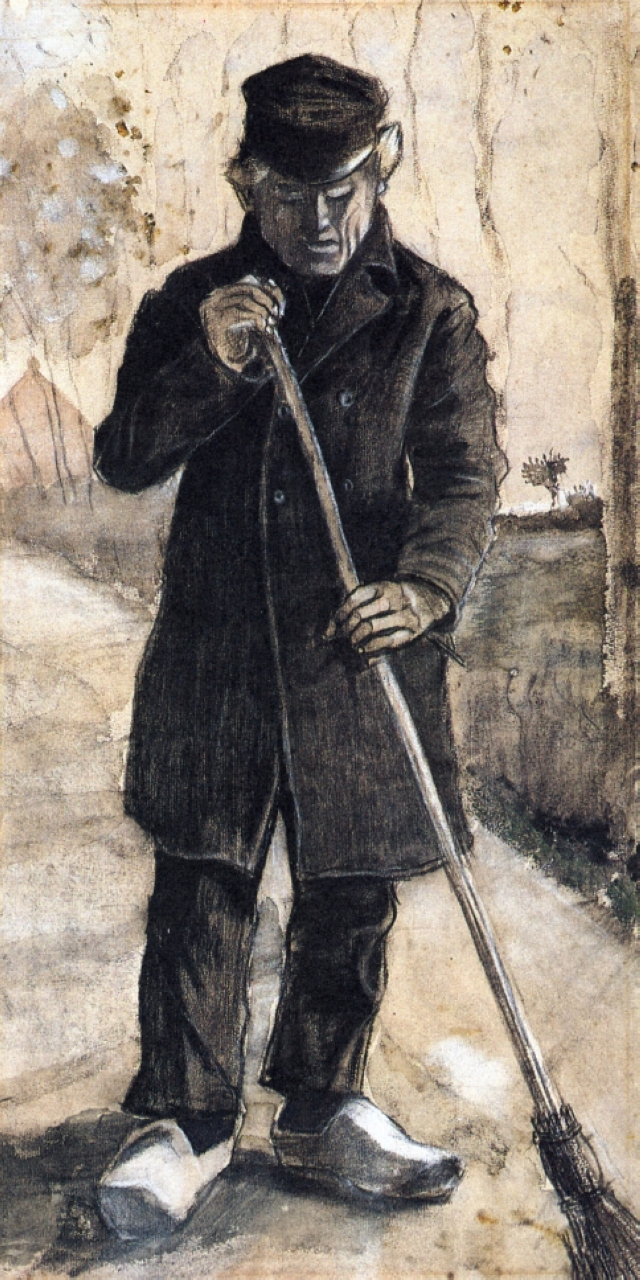 "Vincent Van Gogh, ""Man with a Broom"""