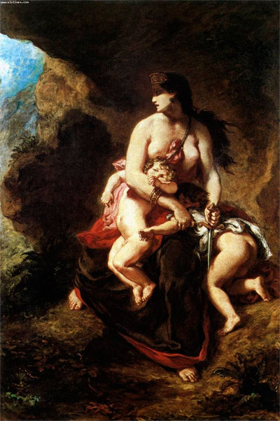 "Delacrois, ""Medea"""