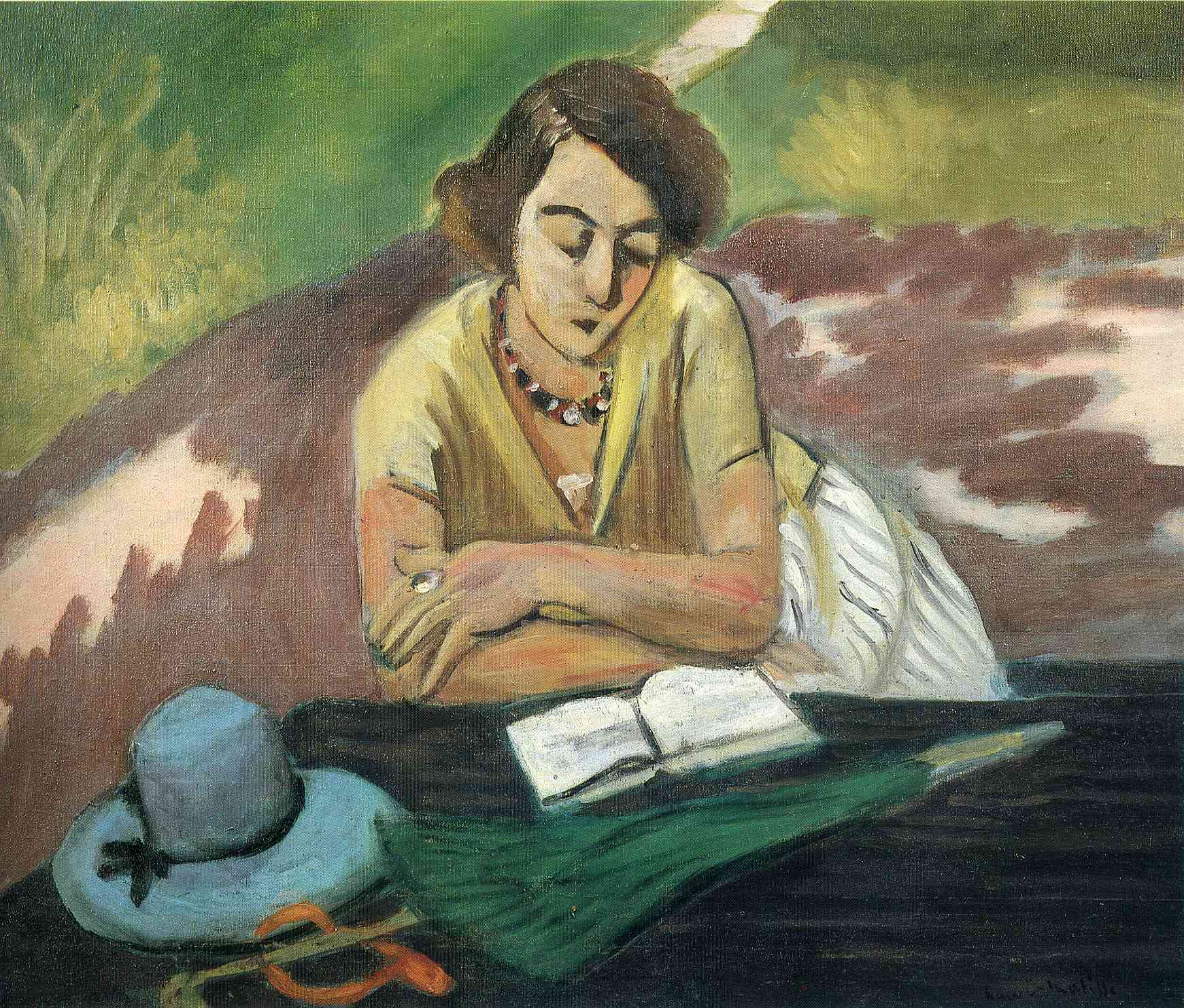 """Matisse, """"Reading Woman with Parasol"""""""