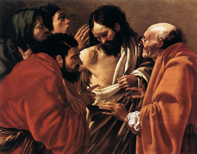 "Hendrick ter Brugghen, ""The Incredulity of St. Thomas"""