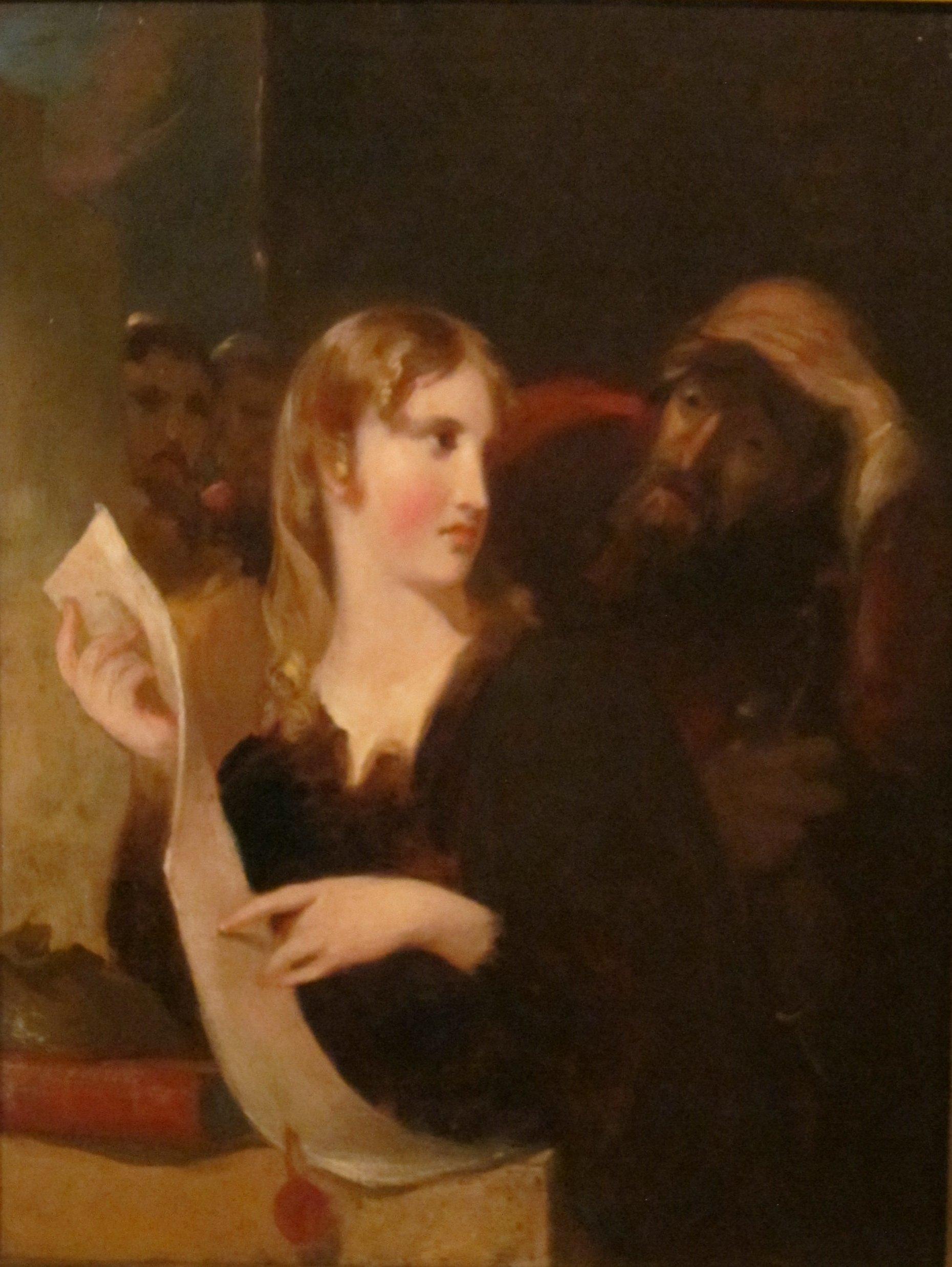 """Thomas Sully, """"Portia and the Merchant of Venice"""""""