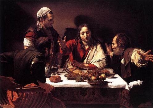 "Carravaggio, ""Supper at Emmaus"""