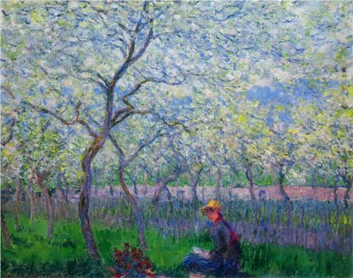 """Monet, """"An Orchard in Spring"""""""