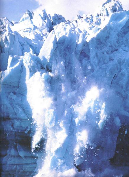 melting antarctic glaciers