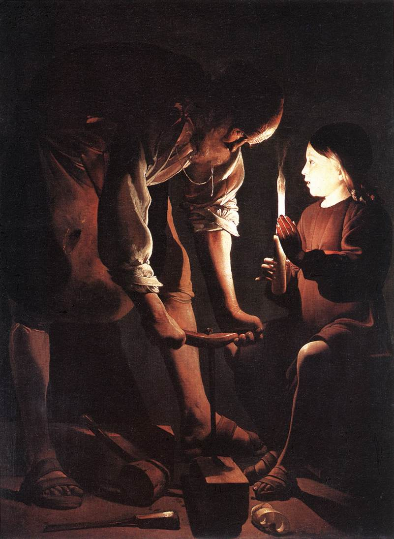 "Georges de la Tour, ""Joseph and Jesus"""