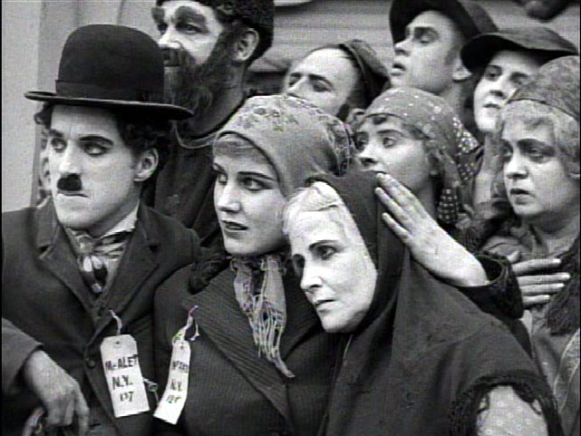 """Chaplin, Purviance in """"The Immigrant"""""""