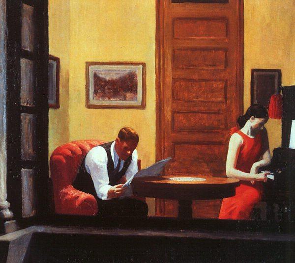 """Hopper, """"Room in New York"""""""