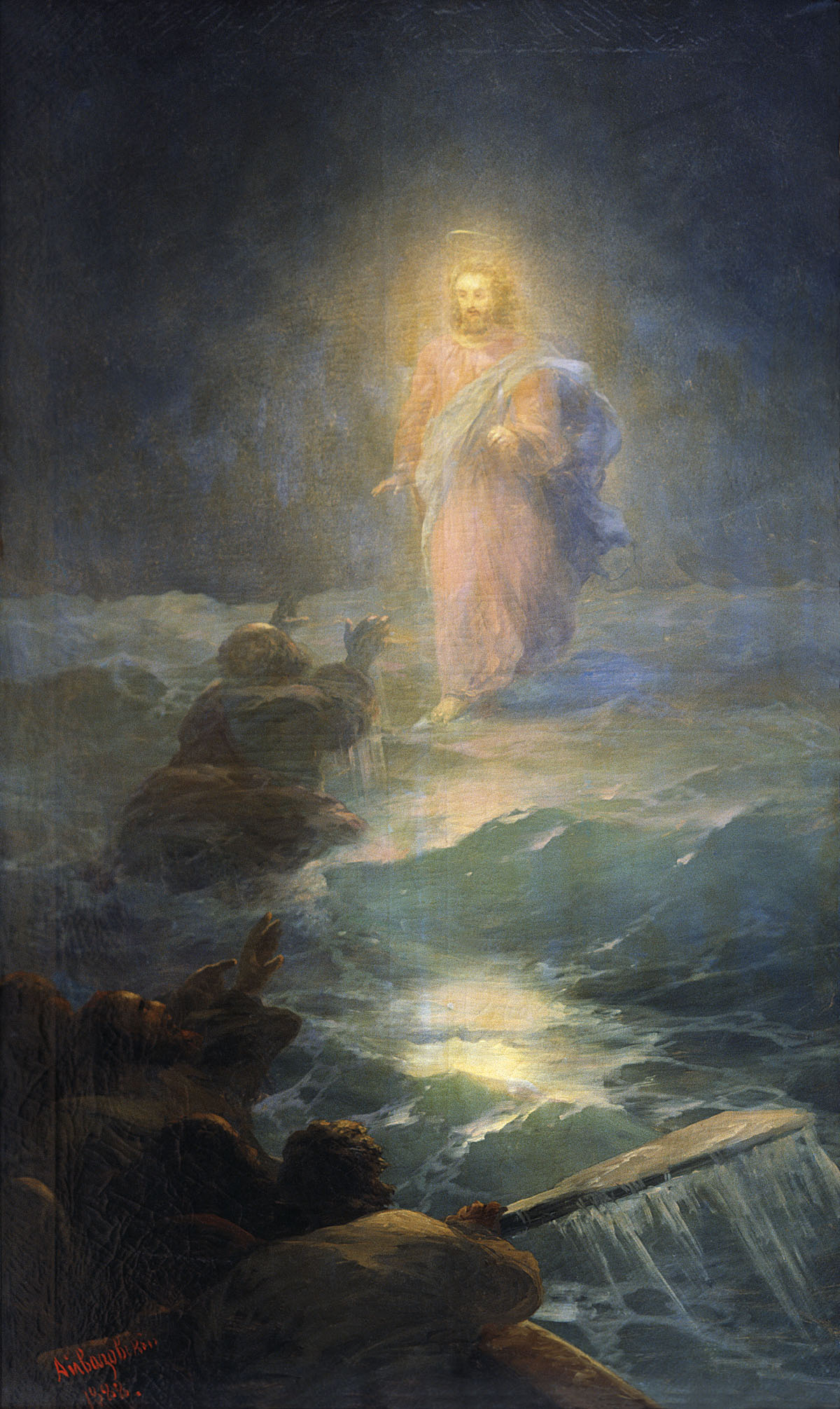 "Ivan Aivazovsky, ""Jesus Walking on Water"""