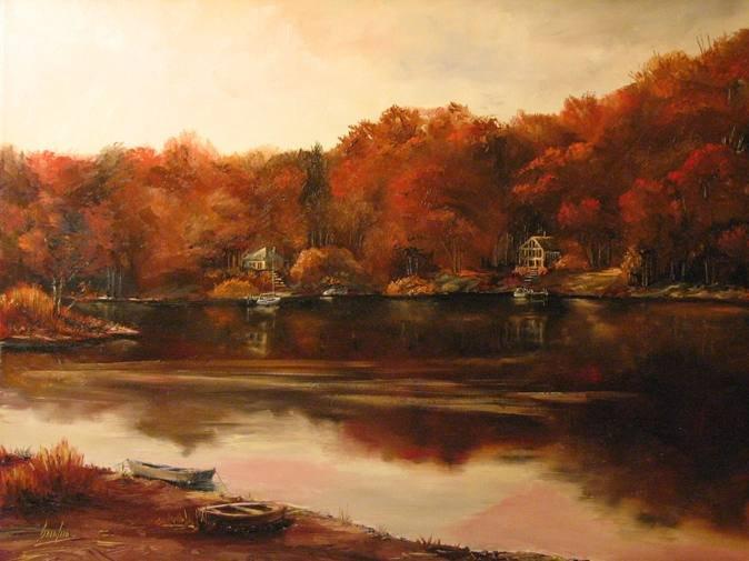 "Brian Pier, ""Autumn Sunset"""
