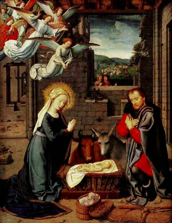 "Gerard David, ""Nativity"""