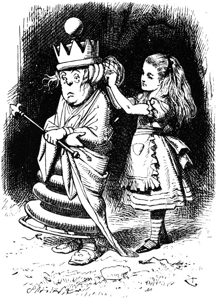 "Tenniel, ""Alice through the Looking Glass"""