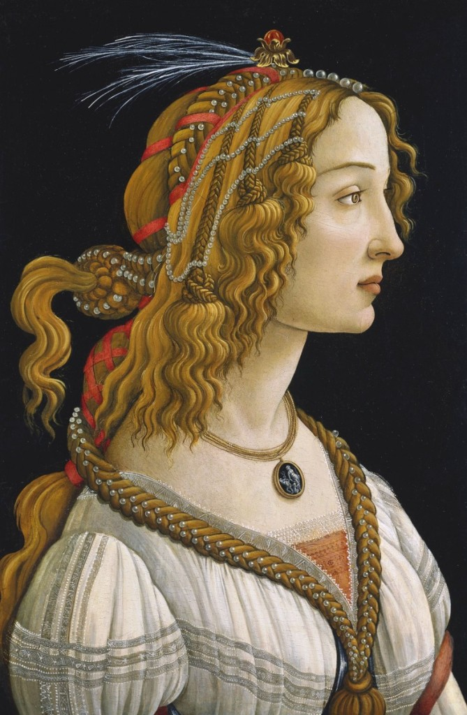 "Sandro Botticelli, ""Ideal Portrait of a Lady"""
